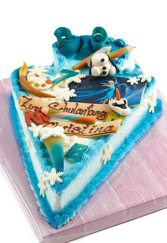 """Torte zum Schulanfang """"Eiskönigin"""""""