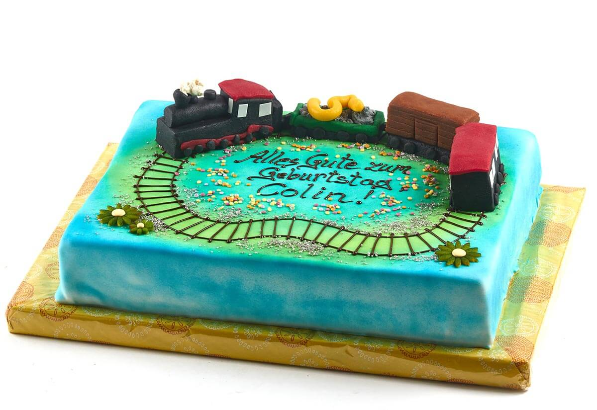 Geburtstagstorte Eisenbahn