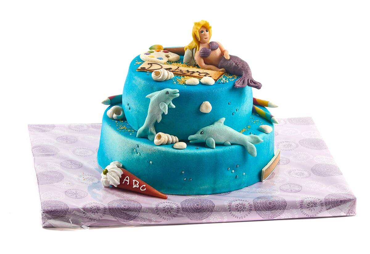 "Torte zum Schulanfang ""Meerjungfrau"""